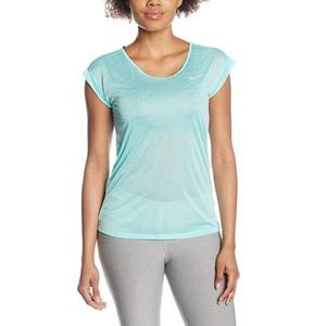 Nike Dri Fit Cool Short Sleeve T-Shirt Turquoise